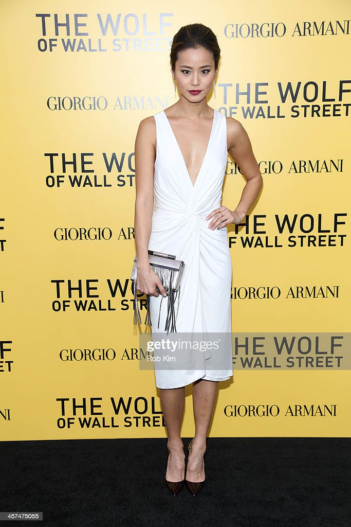Jamie Chung attends the 'The Wolf Of Wall Street' premiere at Ziegfeld Theater on December 17, 2013 in New York City.