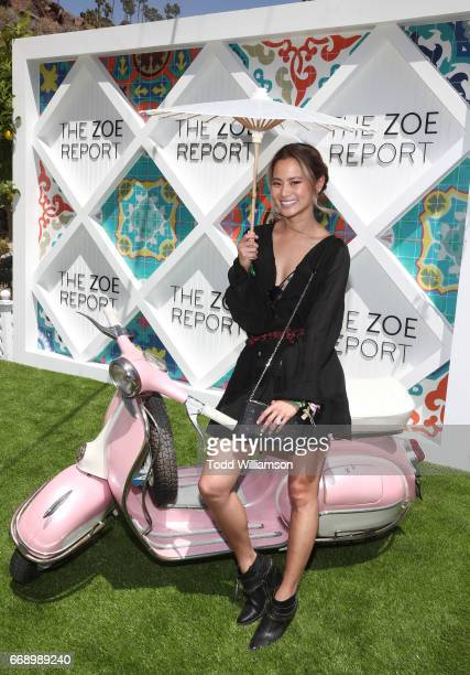 Jamie Chung attends The Zoe Report's ZOEasis on April 15 2017 in Palm Springs California
