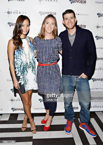 Jamie Chung Dory Gannes and Bryan Greenberg attends The Second Annual Olevolos Project Fundraiser at The General on May 11 2013 in New York City
