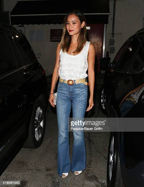 Jamie Chung is seen at Craig' restaurant on June 25 2015 in Los Angeles California