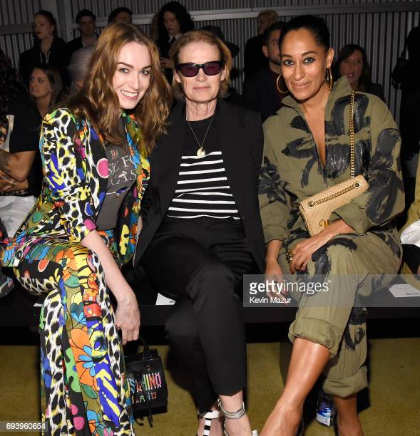 Jamie Clayton Lisa Love and Tracee Ellis Ross attend Moschino Spring/Summer 18 Menswear and Women's Resort Collection at Milk Studios on June 8 2017...