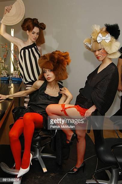 Jamie Clayton Sophia Lamar and Kyoko Nagami attend Eiji Salon grand opening reception at Eiji Salon on February 1 2005 in New York City