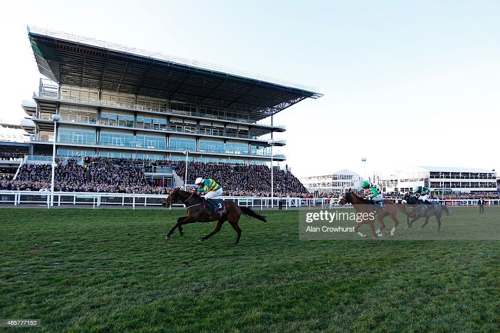 Jamie Codd riding Cause Of Causes wins The Toby Balding National Hunt Steeple Chase at Cheltenham racecourse on March 10 2015 in Cheltenham England