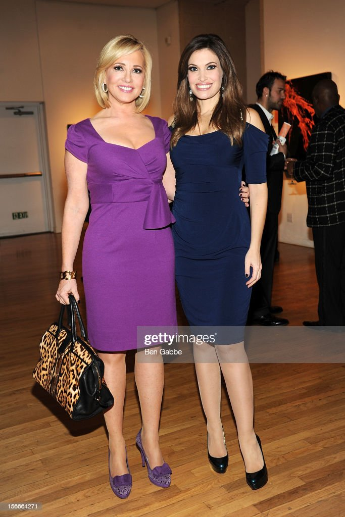 Jamie Colby and <a gi-track='captionPersonalityLinkClicked' href=/galleries/search?phrase=Kimberly+Guilfoyle&family=editorial&specificpeople=240297 ng-click='$event.stopPropagation()'>Kimberly Guilfoyle</a> attend the 2012 GLAAD Art Auction at Metropolitan Pavilion on November 18, 2012 in New York City.