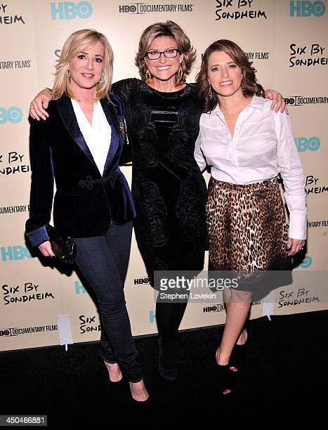 Jamie Colby Ashleigh Banfield and Elizabeth Cohen attend HBO's New York Premiere of 'Six by Sondheim' at Museum of Modern Art on November 18 2013 in...