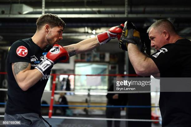 Jamie Cox of Great Britain in action during a media workout at the Stonebridge Boxing Club on October 10 2017 in London England