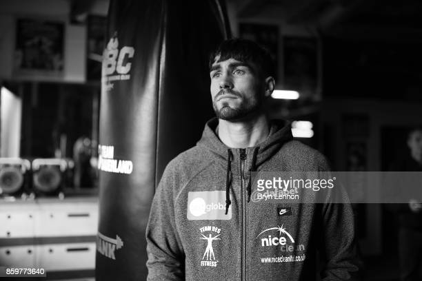 Jamie Cox of Great Britain poses for a photo after a media workout at the Stonebridge Boxing Club on October 10 2017 in London England