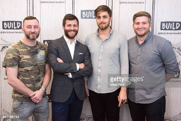 Jamie Crowder Craig DiBase Henry Roosevelt and WB Zullo visit Build Studio to discuss 'Tough Guys' at Build Studio on September 14 2017 in New York...