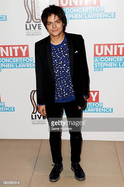 Jamie Cullum attends the Unity concert in memory of Stephen Lawrence at O2 Arena on September 29 2013 in London England