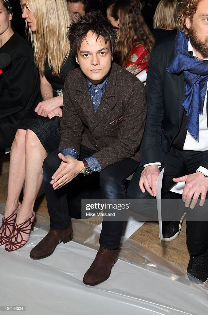 Jamie Cullum attends the Vivienne Westwood Red Label show during London Fashion Week Fall/Winter 2015/16 on February 22, 2015 in London, United Kingdom.