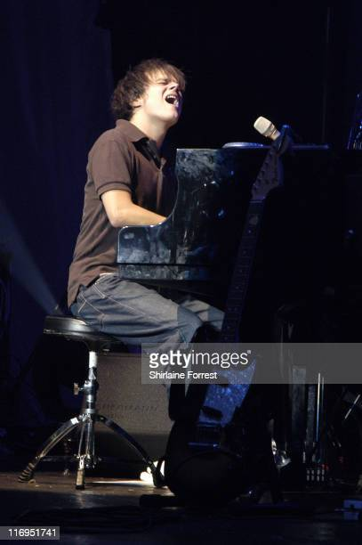 Jamie Cullum during Jamie Cullum in Concert at the Manchester Carling Apollo November 2 2005 at Manchester Apollo in Manchester Great Britain