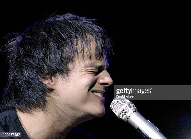 Jamie Cullum during Liverpool Summer Pops 2004 Jamie Cullum at Kings Dock Arena in Liverpool Great Britain