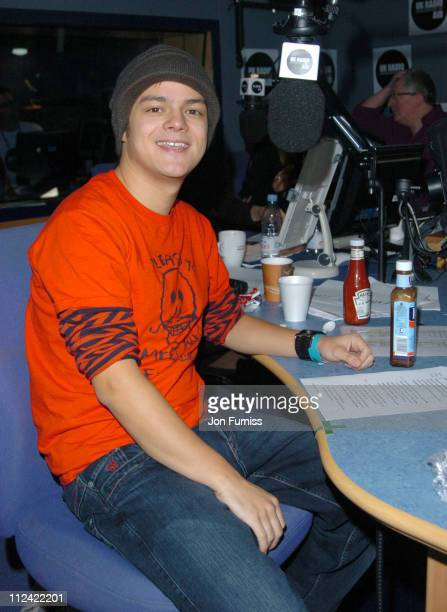Jamie Cullum during UK Radio Aid to Benefit Victims of the Asian Tsunami Studio at Capital Radio in London United Kingdom