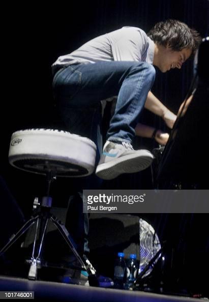 Jamie Cullum performs on stage at Heineken Music Hall on June 7 2010 in Amsterdam Netherlands