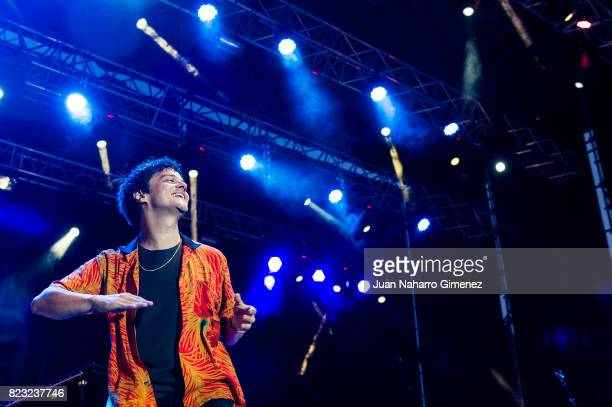 Jamie Cullum performs on stage at Real Jardin Botanico de Alfonso XIII on July 26 2017 in Madrid Spain