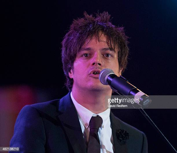 Jamie Cullum performs on stage at Theatre Antique at Jazz A Vienne on July 7 2014 in Vienne France