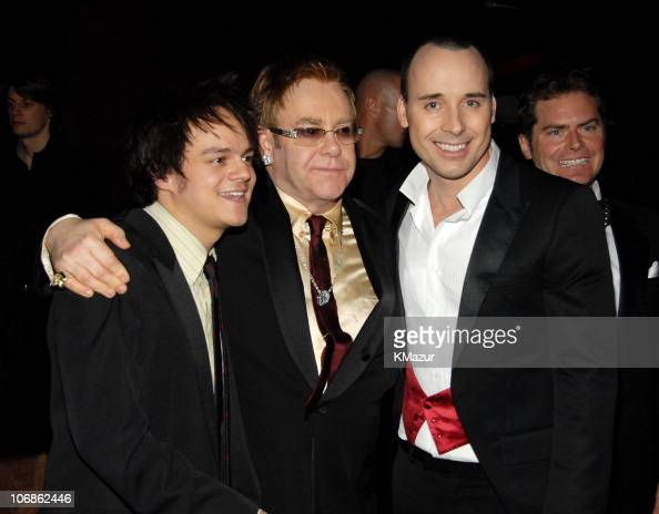 Jamie Cullum Sir Elton John and David Furnish *EXCLUSIVE*