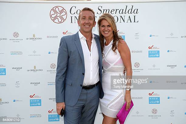 Jamie Cunningham and guest attend the Gala Dinner during The Costa Smeralda Invitational golf tournament at Pevero Golf Club Costa Smeralda on June...