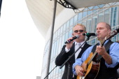 Jamie Dailey and Darin Vincent perform with Dailey and Vincent at the 2011 CMA Music Festival on June 12 2011 in Nashville Tennessee
