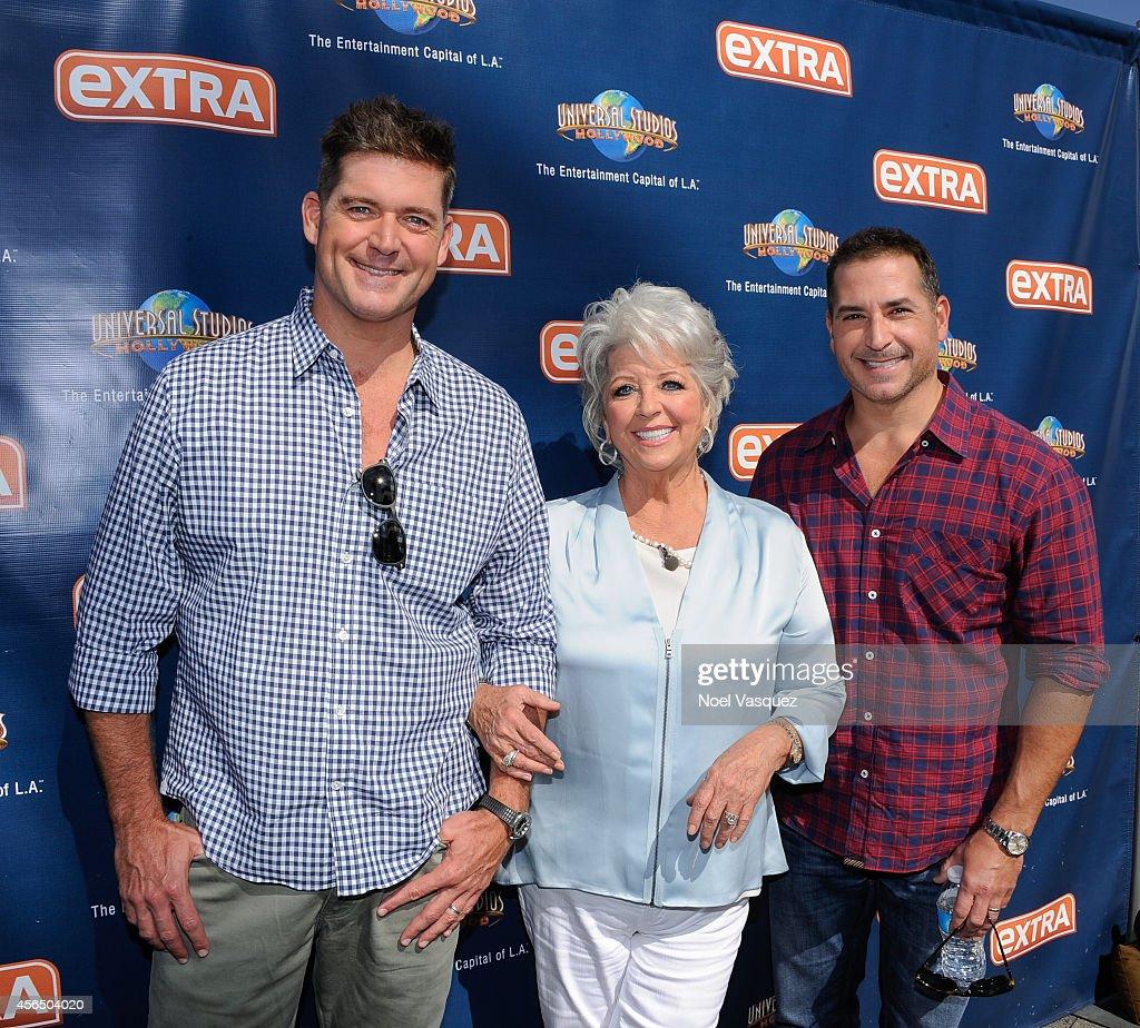 Paula deen photo getty images - Jamie Deen Bobby Deen And Paula Deen Visit Extra At Universal Studios Hollywood