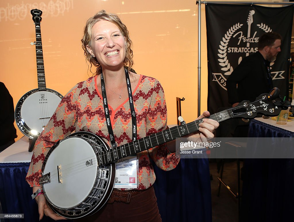 Jamie Deering of Deering Banjos attends the 2014 National Association of Music Merchants show media preview day at the Anaheim Convention Center on January 22, 2014 in Anaheim, California.