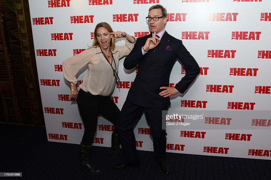 Jamie Denbo and <a gi-track='captionPersonalityLinkClicked' href=/galleries/search?phrase=Paul+Feig&family=editorial&specificpeople=2367893 ng-click='$event.stopPropagation()'>Paul Feig</a> attend a gala screening of 'The Heat' at The Curzon Mayfair on June 13, 2013 in London, England.