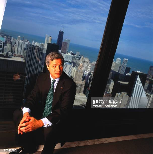 Jamie Dimon sitting in tall building undated