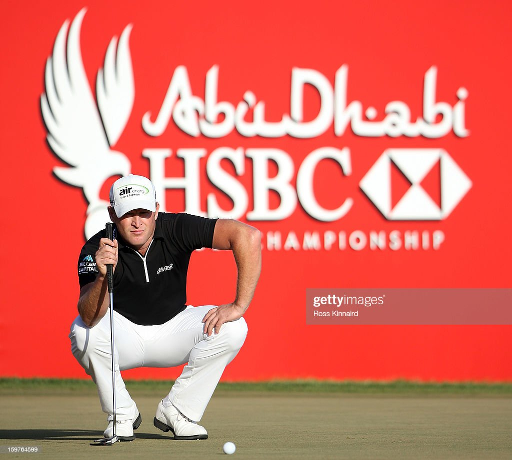 Jamie Donaldson of Wales during the final round of the Abu Dhabi HSBC Golf Championship at the Abu Dhabi Golf Club on January 20, 2013 in Abu Dhabi, United Arab Emirates.