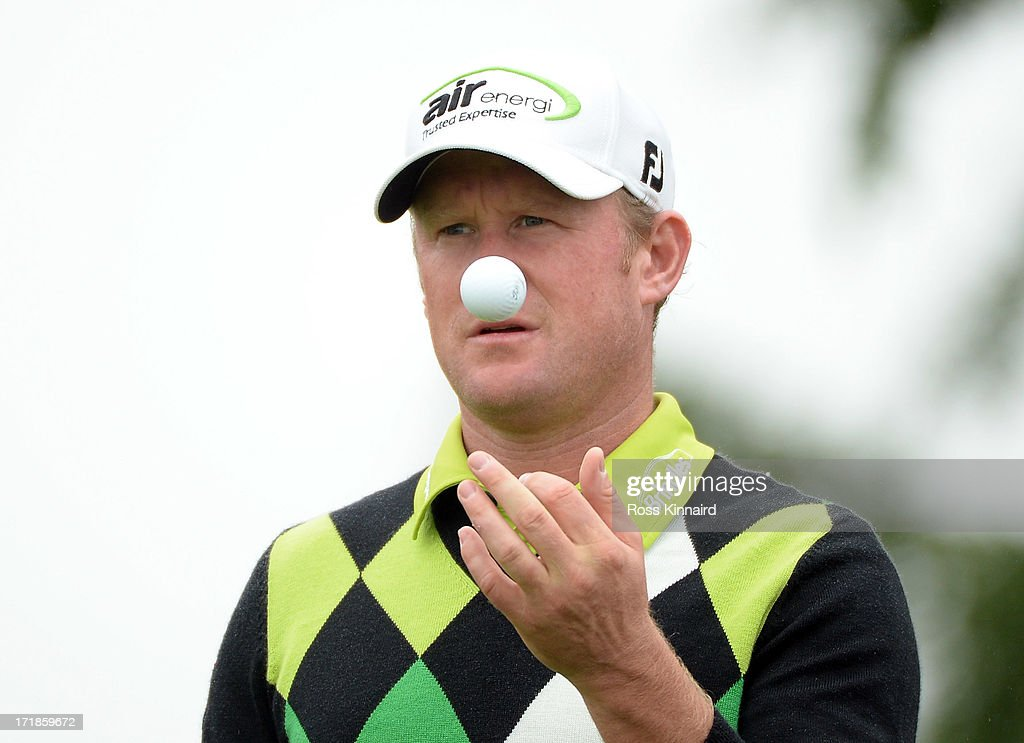 <a gi-track='captionPersonalityLinkClicked' href=/galleries/search?phrase=Jamie+Donaldson&family=editorial&specificpeople=241203 ng-click='$event.stopPropagation()'>Jamie Donaldson</a> of Wales during the third round of the Irish Open at Carton House Golf Club on June 29, 2013 in Maynooth, Ireland.