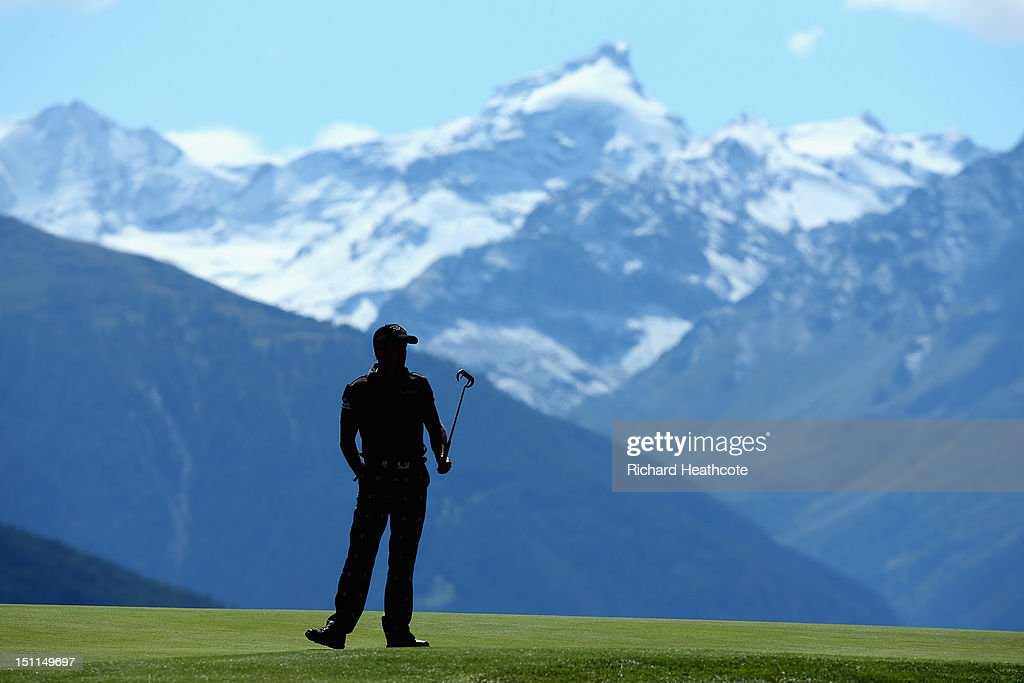 Jamie Donaldson of Wales in action during the final round of the Omega European Masters at Crans-sur-Sierre Golf Club on September 2, 2012 in Crans, Switzerland.