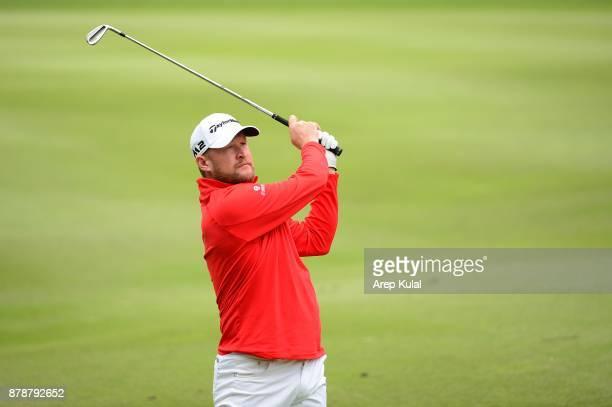 Jamie Donaldson of Wales pictured during round three of UBS Hong Kong Open at The Hong Kong Golf Club on November 25 2017 in Hong Kong Hong Kong