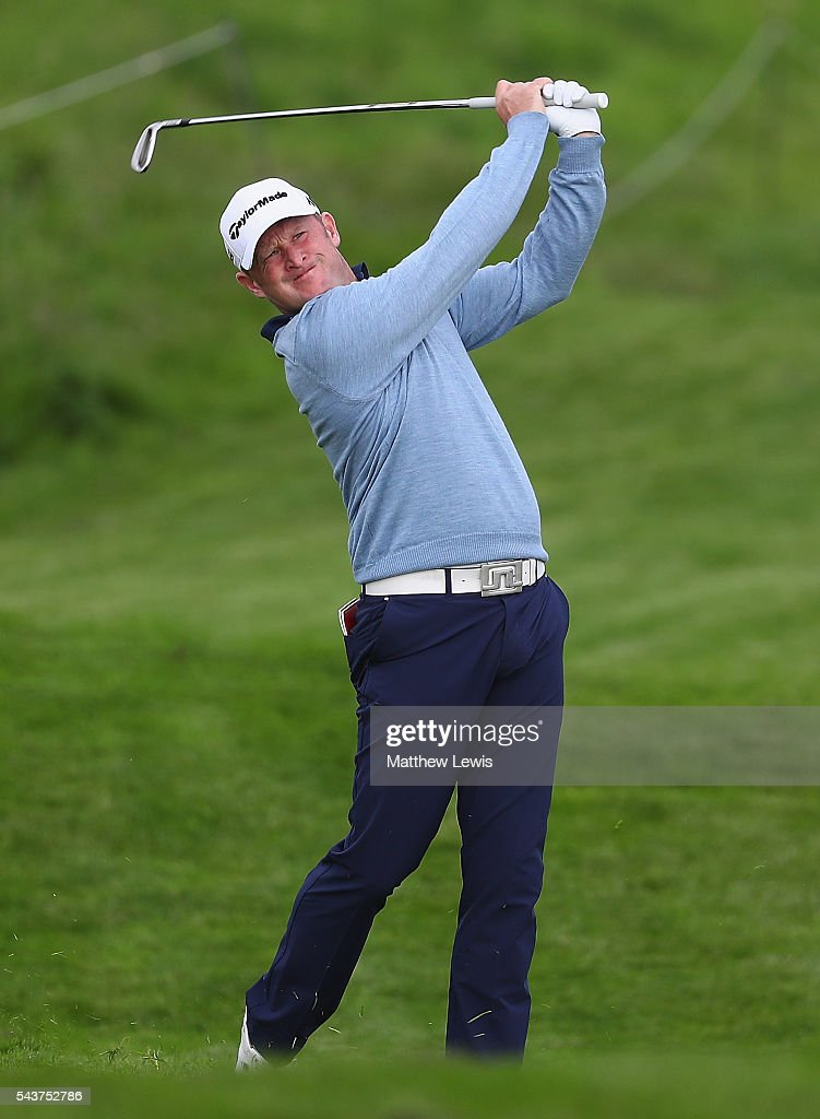 <a gi-track='captionPersonalityLinkClicked' href=/galleries/search?phrase=Jamie+Donaldson&family=editorial&specificpeople=241203 ng-click='$event.stopPropagation()'>Jamie Donaldson</a> of Wales plays a shot during day one of the 100th Open de France at Le Golf National on June 30, 2016 in Paris, France.