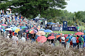 Jamie Donaldson of Wales plays the shot during the final round of the 2015 Thailand Open at Amata Spring Country Club on December 13 2015 in Chon...