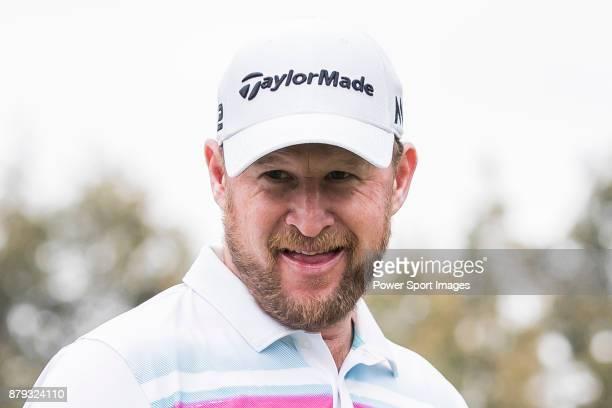 Jamie Donaldson of Wales tees off during round four of the UBS Hong Kong Open at The Hong Kong Golf Club on November 26 2017 in Hong Kong Hong Kong