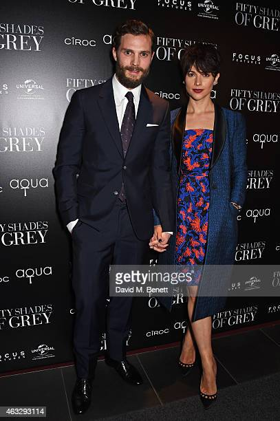 Jamie Dornan and Amelia Warner attend an after party following the UK Premiere of 'Fifty Shades Of Grey' at aqua London on February 12 2015 in London...