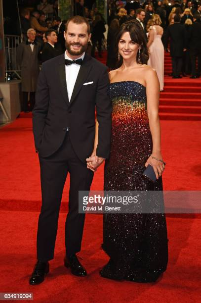 Jamie Dornan and Amelia Warner attend the 70th EE British Academy Film Awards at Royal Albert Hall on February 12 2017 in London England
