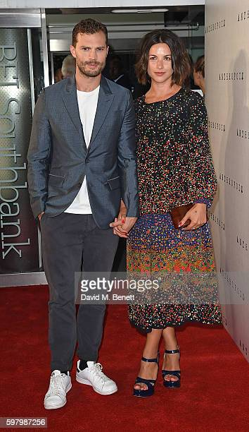 Jamie Dornan and Amelia Warner attend the UK Premiere of 'Anthropoid' at the BFI Southbank on August 30 2016 in London England