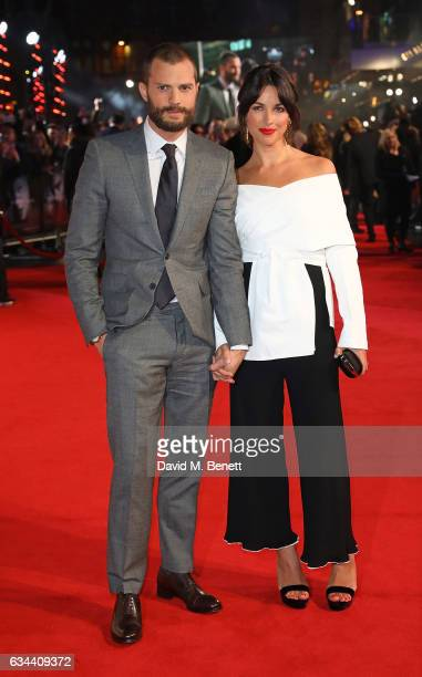 Jamie Dornan and Amelia Warner attend the UK Premiere of 'Fifty Shades Darker' at Odeon Leicester Square on February 9 2017 in London United Kingdom