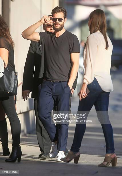 Jamie Dornan arrives at the Jimmy Kimmel show on November 03 2016 in Los Angeles California