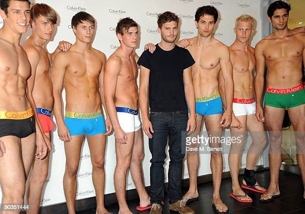 Jamie Dornan attends the '9 Countries 9 men 1 Winner' Calvin Klein Photocall at House of Fraser Oxford Street on September 5 2009 in London England