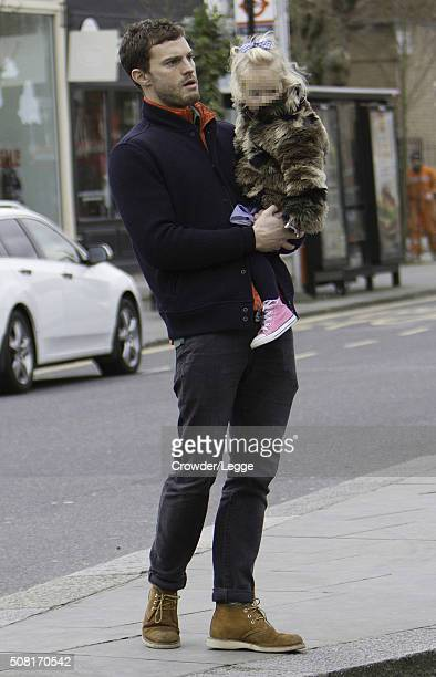 Jamie Dornan is pictured out on February 3 2016 in London England
