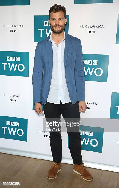 Jamie Dornan poses for a photo as the cast of BBC Two drama 'The Fall' gather for the launch of series three at BFI Southbank on September 7 2016 in...
