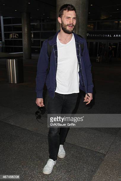 Jamie Dornan seen at LAX on March 24 2015 in Los Angeles California