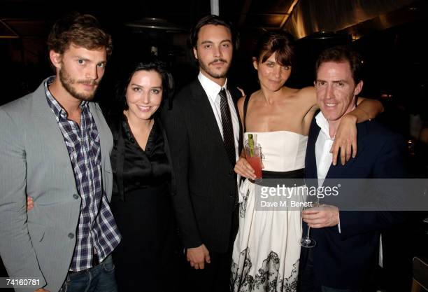 Jamie Dornan Sharleen Spiteri Jack Huston Helena Christensen and Rob Brydon attend a charity evening in aid of CLIC Sargent at the Sanderson Hotel on...