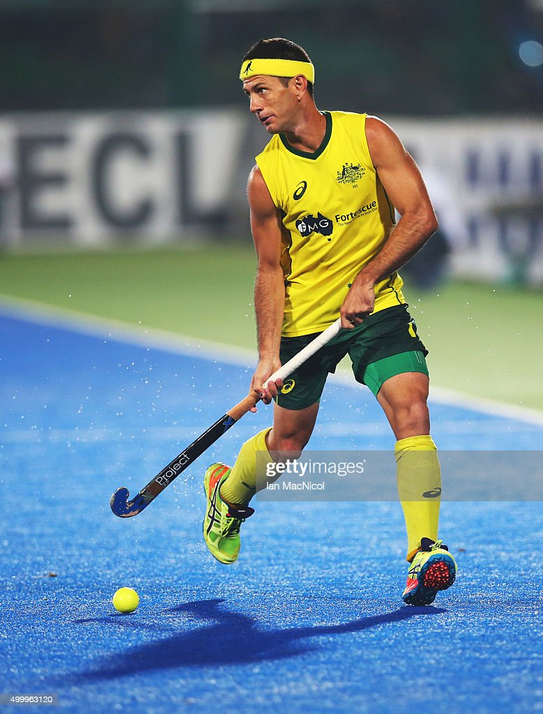 <a gi-track='captionPersonalityLinkClicked' href=/galleries/search?phrase=Jamie+Dwyer&family=editorial&specificpeople=728372 ng-click='$event.stopPropagation()'>Jamie Dwyer</a> of Australia controls the ball during the match between Australia and Netherlands on day eight of The Hero Hockey League World Final at the Sardar Vallabh Bhai Patel International Hockey Stadium on December 04, 2015 in Raipur, India.