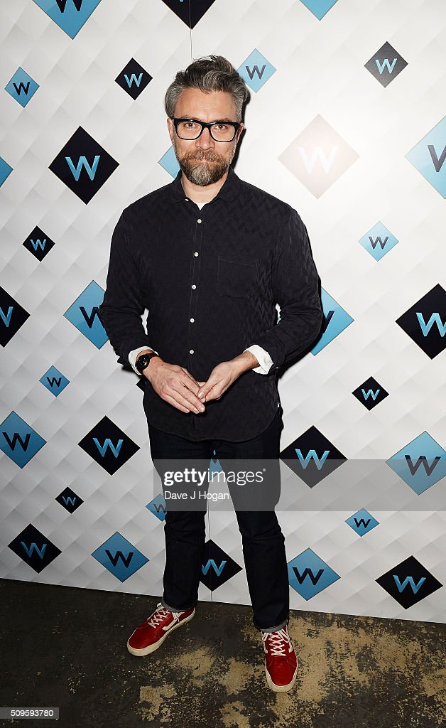 Jamie East attends a celebration of the new TV channel 'W,' launching on Monday 15th February, at Union Street Cafe on February 11, 2016 in London, England.