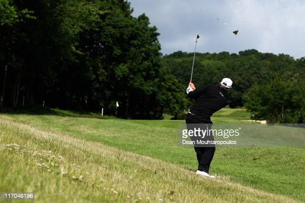 Jamie Elson of England hits his second shot on the 3rd hole during the Final Round of the Saint Omer Open on June 19 2011 in St Omer France
