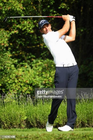 Jamie Elson of England hits his tee shot on the 16th hole during the Saint Omer Open preview day on June 15 2011 in St Omer France