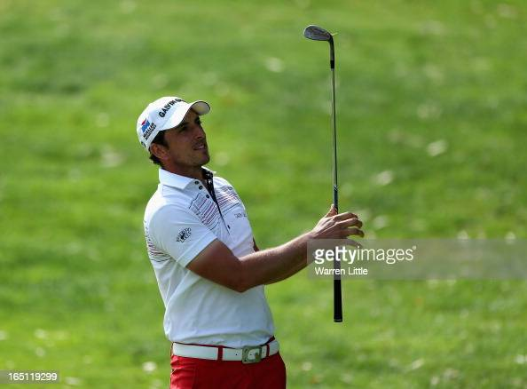 Jamie Elson of England in action during the final round of the Trophee du Hassan II Golf at Golf du Palais Royal on March 31 2013 in Agadir Morocco