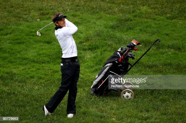 Jamie Elson of England in action during the final round of the European Tour Qualifying School Final Stage at the PGA Golf de Catalunya golf resort...